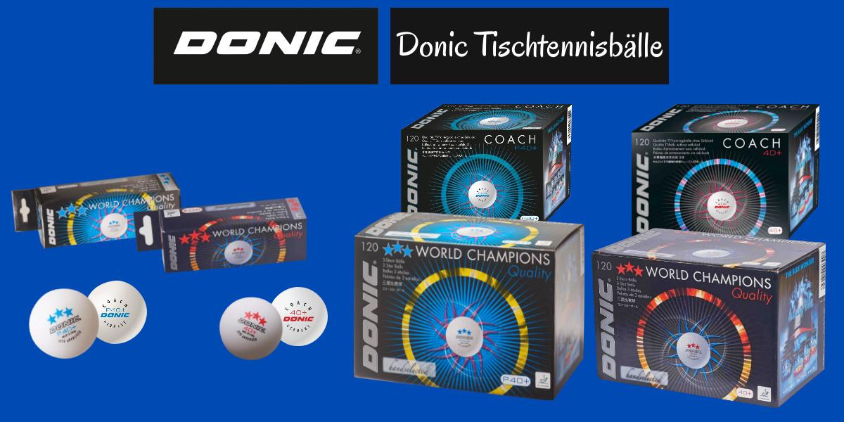 Donic Tischtennisbälle