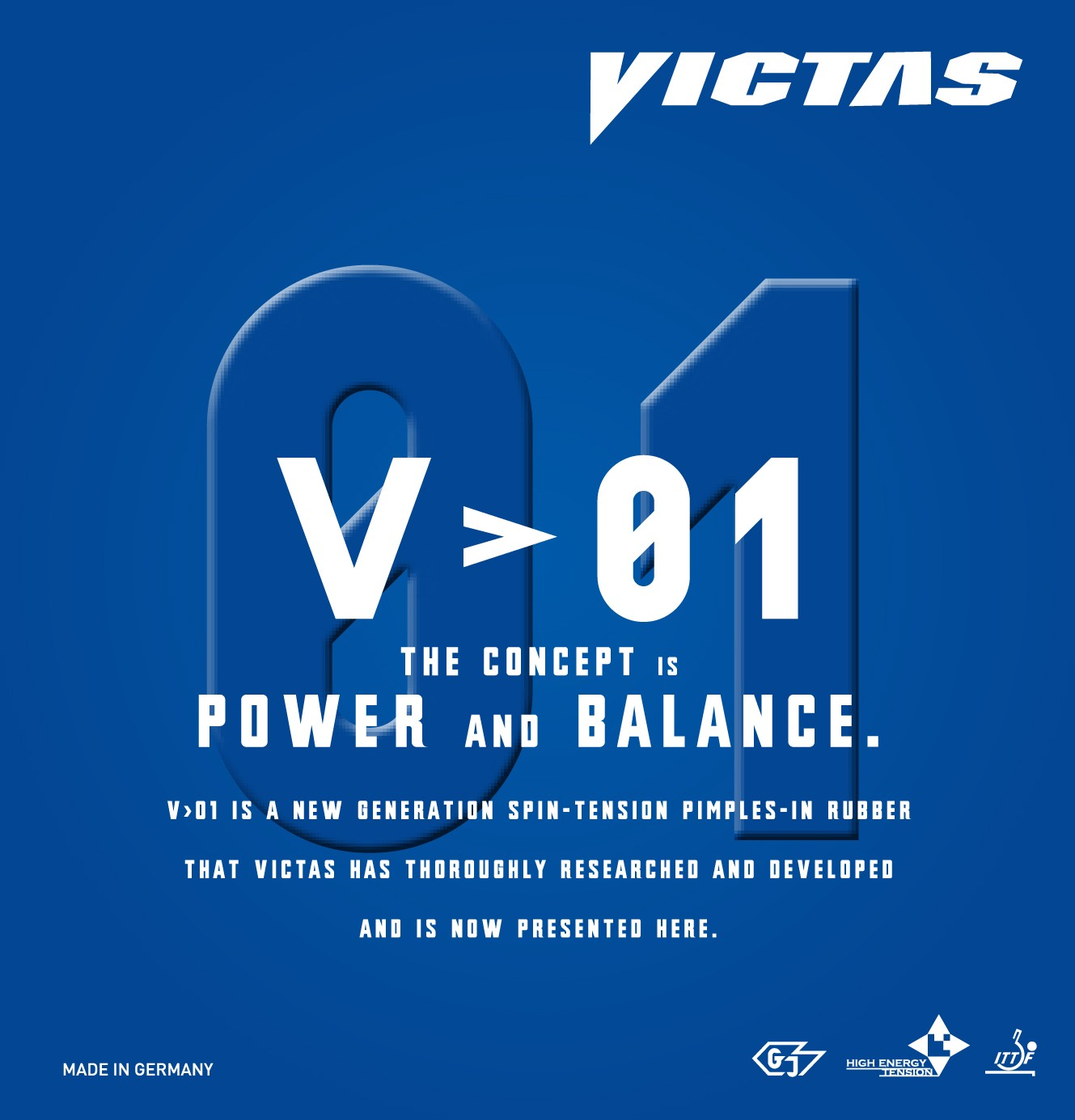 rot VICTAS Belag V  15 Stiff Optionen 2,3 mm