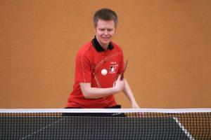 Playing table tennis with Matthias Bormann